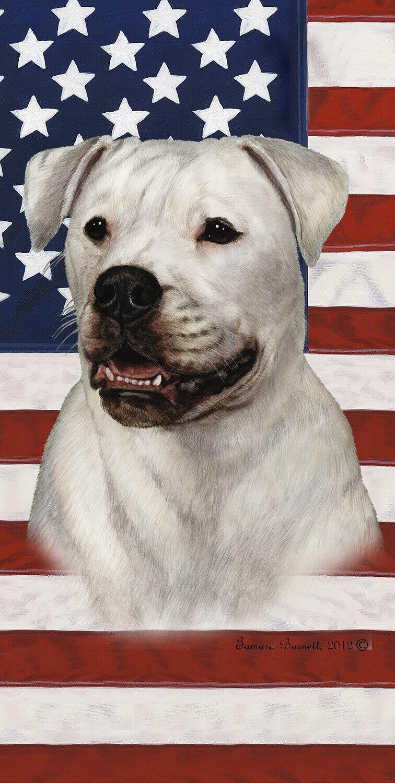 American Bulldog Patriotic Beach Towel