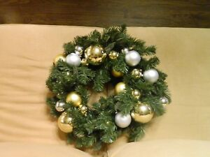 image is loading pottery barn outdoor ornament pine christmas wreath gold