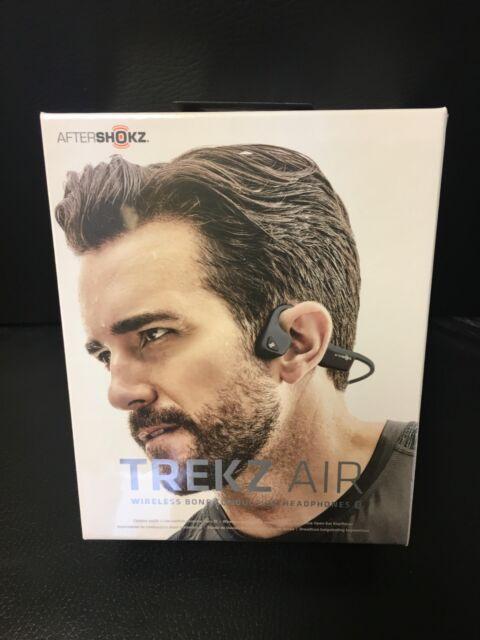 AfterShokz Trekz Air Open Ear Bone Conduction Bluetooth Wireless Headphones Grey