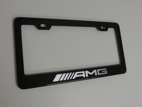 Brand New 100/% REAL CARBON FIBER LICENSE PLATE FRAME HOLDER *AMG*