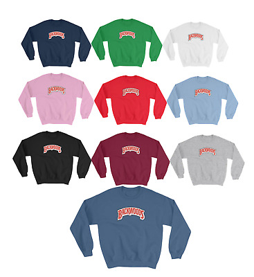 New Custom BACKWOODS Spell Out Mens Rolling Smoking Papers Crewneck Sweater