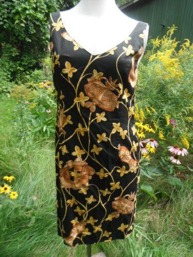 MARGARETHA LEY ESCADA Black and gold vine rope abs