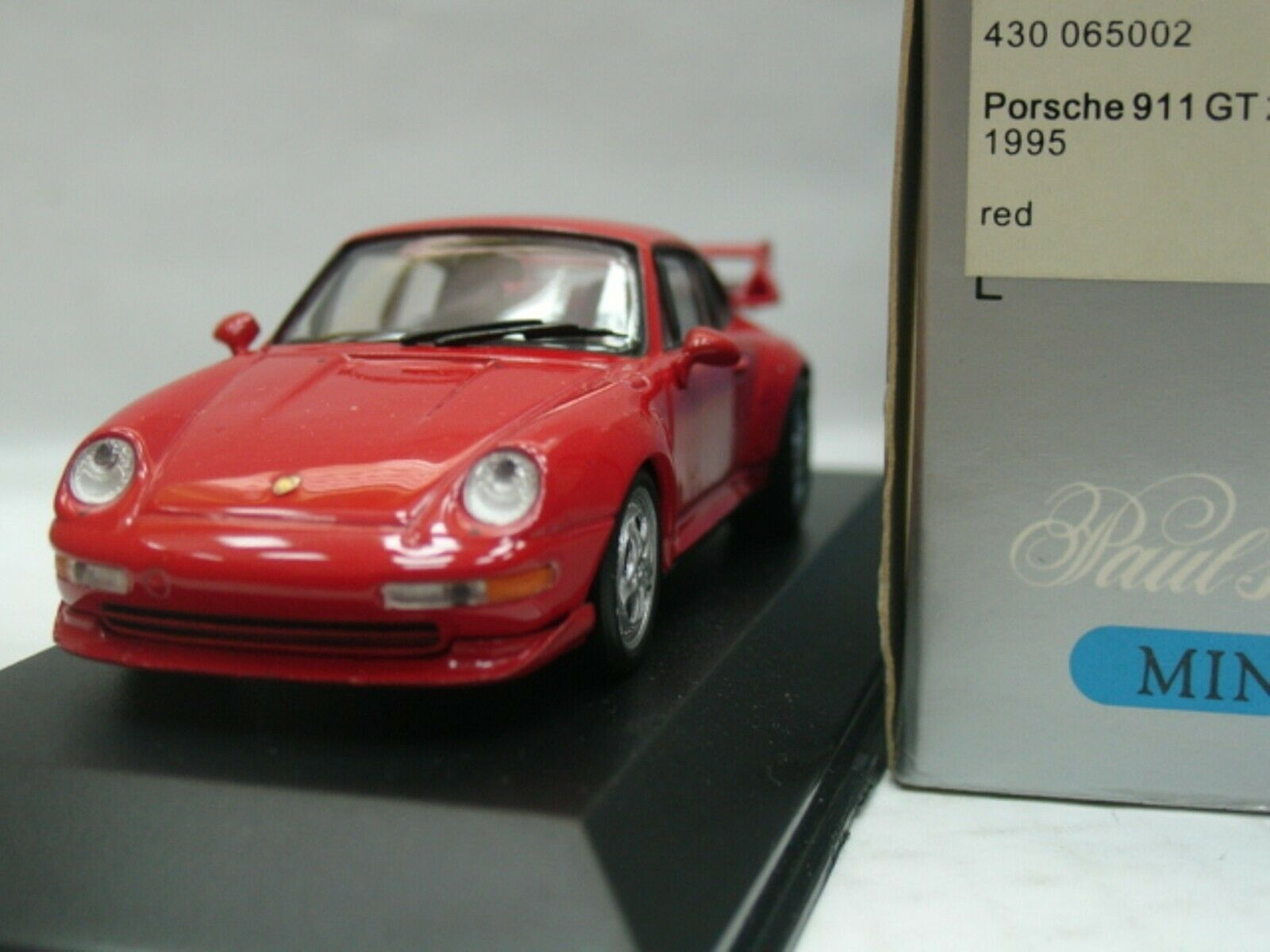 WOW EXTREMELY RARE Porsche 993 911 GT2 450HP 1995 Red 1 43 Minichamps-Turbo RSR