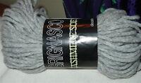 Grignasco Cashmere Soft Luxurious Braided Light Chunky Yarn (light Gray Heather)