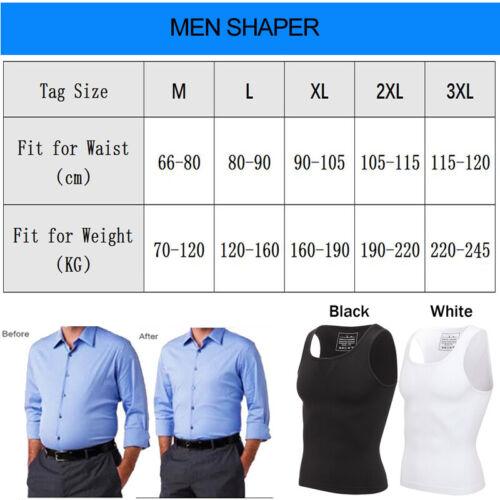 Men Body Shaper Slimming Shirt Compression Vest Elastic Shapewear Tank Tops Gym