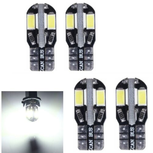 4 x T10 Car Bulbs LED 8 5730 SMD w5w 501 Wedge Interior Lights Error Free Canbus
