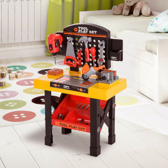 Peachy 53Pc Kids Role Play Tool Work Bench Station And Tools Pretend Toy But Opened Creativecarmelina Interior Chair Design Creativecarmelinacom