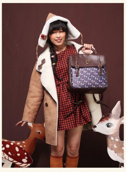 Nouveau Super Cute Woman Batteur Brown Satchel Messenger Bag Sac à main Shopping