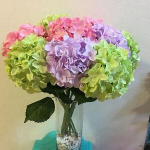 Hortensias Artificiales Flores De Seda Hoja Ramo Boda Nupcial Partido Decoración