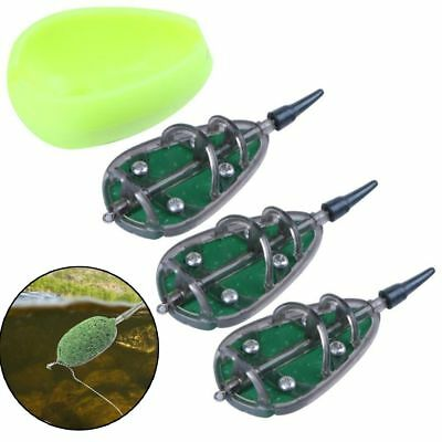 Inline Method Carp Fishing Feeder 20//25//35g Mould Set`Fishing Accessories B Z4I3