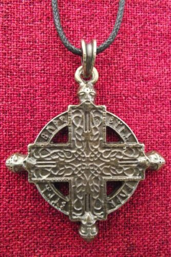 Beserker Cross Brass Pendant Northern Man Norse Warrior Viking Thor Necklace