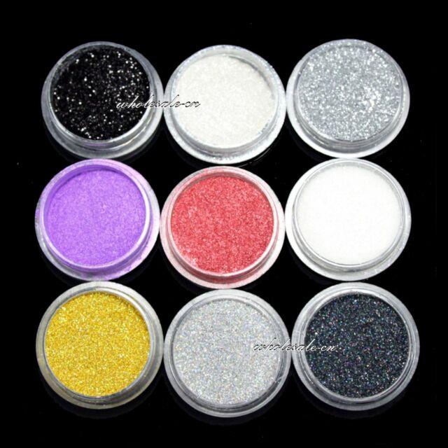 9 COLOR EYE POWDER EYESHADOW Cosmetics MAKEUP SALON ARTIST SET #1