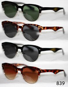 50er 60er Jahre Sonnenbrille Halbschale Retro schwarz leopard Damen Herren 839 xOmgetzM