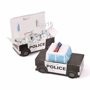 Police-Party-Treat-Boxes-12-PACK-Sheriff-Cop-Car