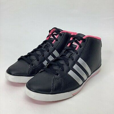 ADIDAS NEO Label Ortholite Size 8 High Top Women's Hot Pink SNEAKERS | eBay