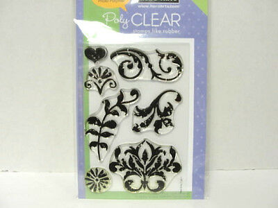 """Hero Arts Poly Clear Photo-Polymer Stamp Set /""""Speckled Ornaments/"""" CL401"""