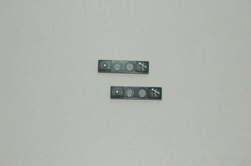 2 Lego 9V RC Eisenbahn TRAIN Kachel Armatur Steuer 4x1 DUNKELGRAU