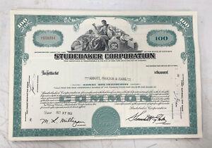 Studebaker-Corporation-100-Share-Stock-Certificate-1963-1964