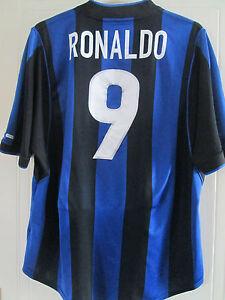 b18958b71 Inter Milan 1999-2000 RONALDO Home Football Shirt taille Extra Large ...