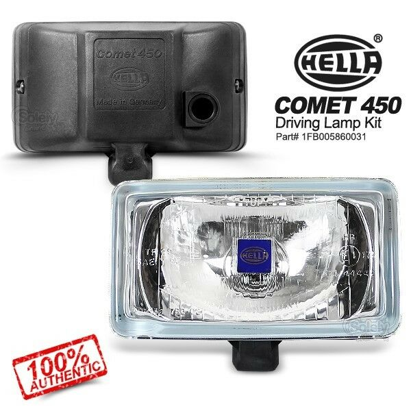 (Pair) HELLA Comet 450 White Car Driving Lamp Spot Fog Light for 4WD SUV 4x4