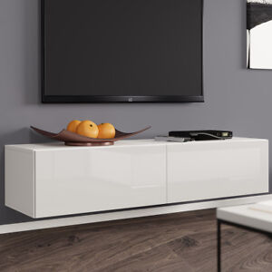 tv lowboard tenor 140 board fernsehschrank h ngeschrank hochglanz matt h ngend ebay. Black Bedroom Furniture Sets. Home Design Ideas
