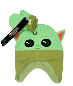 Star-Wars-Mandalorian-Baby-Yoda-hat-and-mittens-set-child-toddler-infant-size