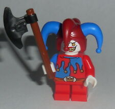 FANTASY ERA Lego Evil Red & Blue Jester w/axe NEW castle Red & blue
