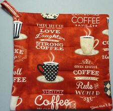 TREMORS Deluxe Hot Pad// Pot Holder Red Quilted KAFFE FASSETT