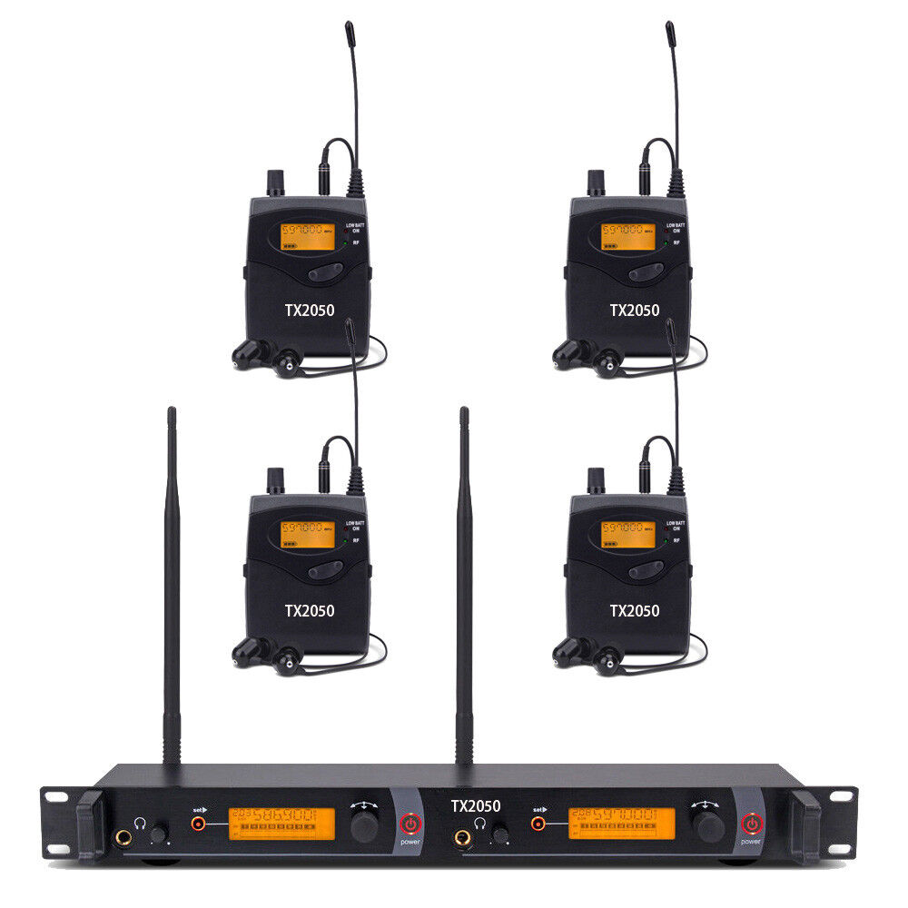 Pro Audio UHF Wireless In Ear Monitor System 250 Channel 4 Receiver Stage Audio