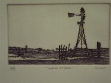 Kim Mackey    Original Hand Signed and Numbered   Etching   Water Tank