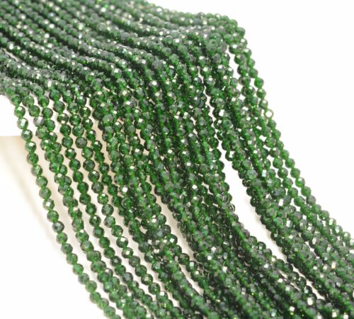 2MM GREEN SANDSTONE GEMSTONE GRADE AAA MICRO FACETED ROUND LOOSE BEADS 15/""