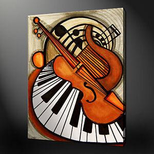 Instrumentos Musica Violin Piano Lienzo Pared Mural Estampado Cuadro