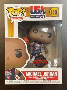FUNKO POP NBA MICHAEL JORDAN NAVY JERSEY #115 SPECIAL EDITION EXCLUSIVE IN HAND