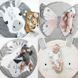 Cartoon-Animals-Baby-Play-Mats-Pad-Toddler-Kids-Crawling-Blanket-Round-Carpet