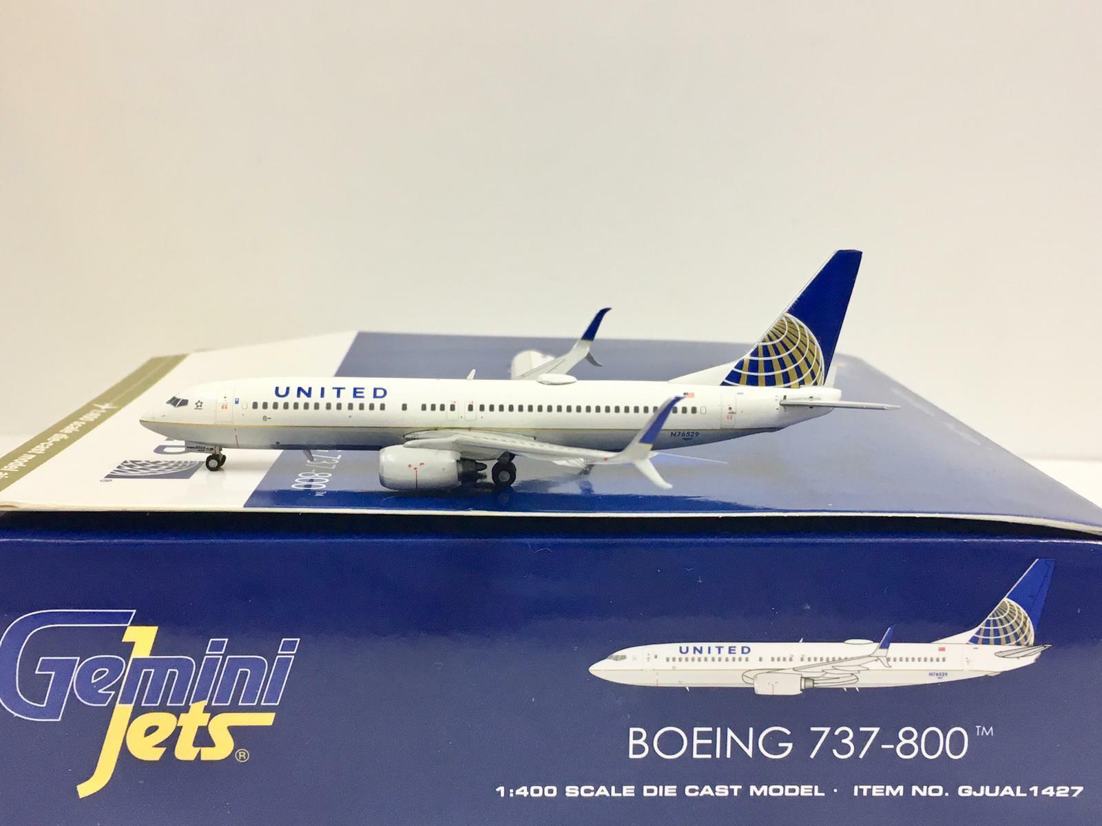 nuevo listado Gemini Jets 1 400 United United United Boeing 737-800 N76529 gjual 1427  envío rápido en todo el mundo