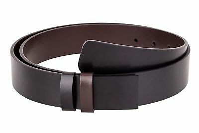 Men's Reversible Belt without Buckle Black Brown leather strap Designer belts   eBay