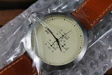 NEW U-Boat IFO Chrono Beige Dial Brown Leather Strap Mens Watch 312 MSRP 2200.00