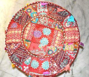 Floor Pouf Ottoman Cover Pouffe