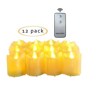 Flameless Battery Operated Led Votive Candles With Remote
