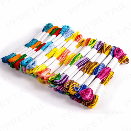 40 x SKEINS COLOURED EMBROIDERY THREAD Cotton Cross StitchBraidingCraft Sewing