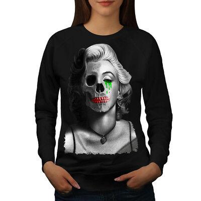 Wellcoda Creepy Celebrity Womens Sweatshirt, Dead Casual Pullover Jumper