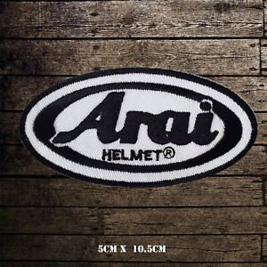 Arai Motor Sports Helmet logo Embroidered Iron On Sew On Patch Badge