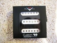 Genuine Fender Custom Shop '69 Strat Pickup Set of 3 USA Made +Many Free Gifts