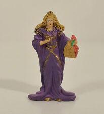 "Purple Medieval Queen w/ Basket 2.5"" PVC Action Figure Breyer Stablemates"