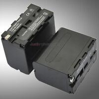 2x 7800mAh Battery Pack for Sony NP-F970 NP-F960 NP-F950 NP-F930 NP-F770 NP-F750