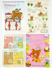 San-X Rilakkuma Charactor Plastic A4 File Folder - 4 Assorted Color - F (24c44)