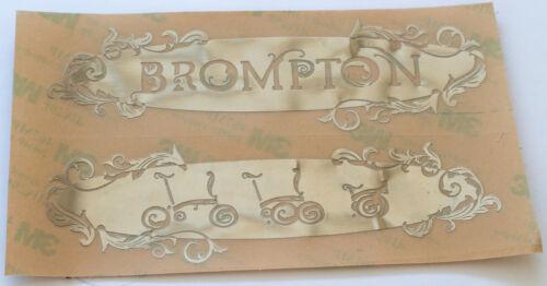 2 x Metallic Embossed Decals For BROMPTON Silver Sticker