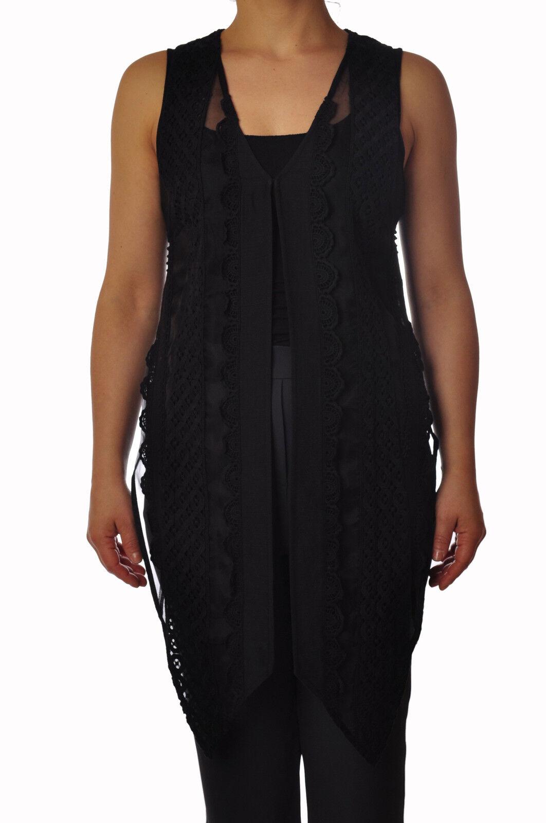 Twin Set  -  Chaleco - Mujer  - Negro - 3688026A183928  marca en liquidación de venta
