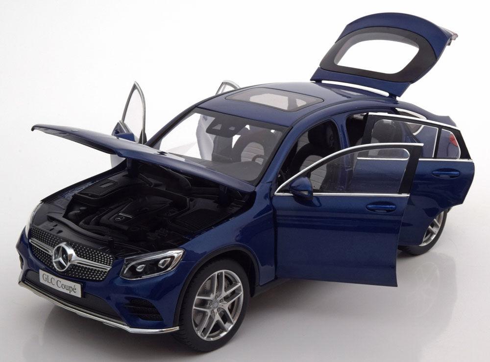 Iscale 2016 Mercedes Benz Glc C253 Coupe Bleu Métallisé Marchand Édition 1 18