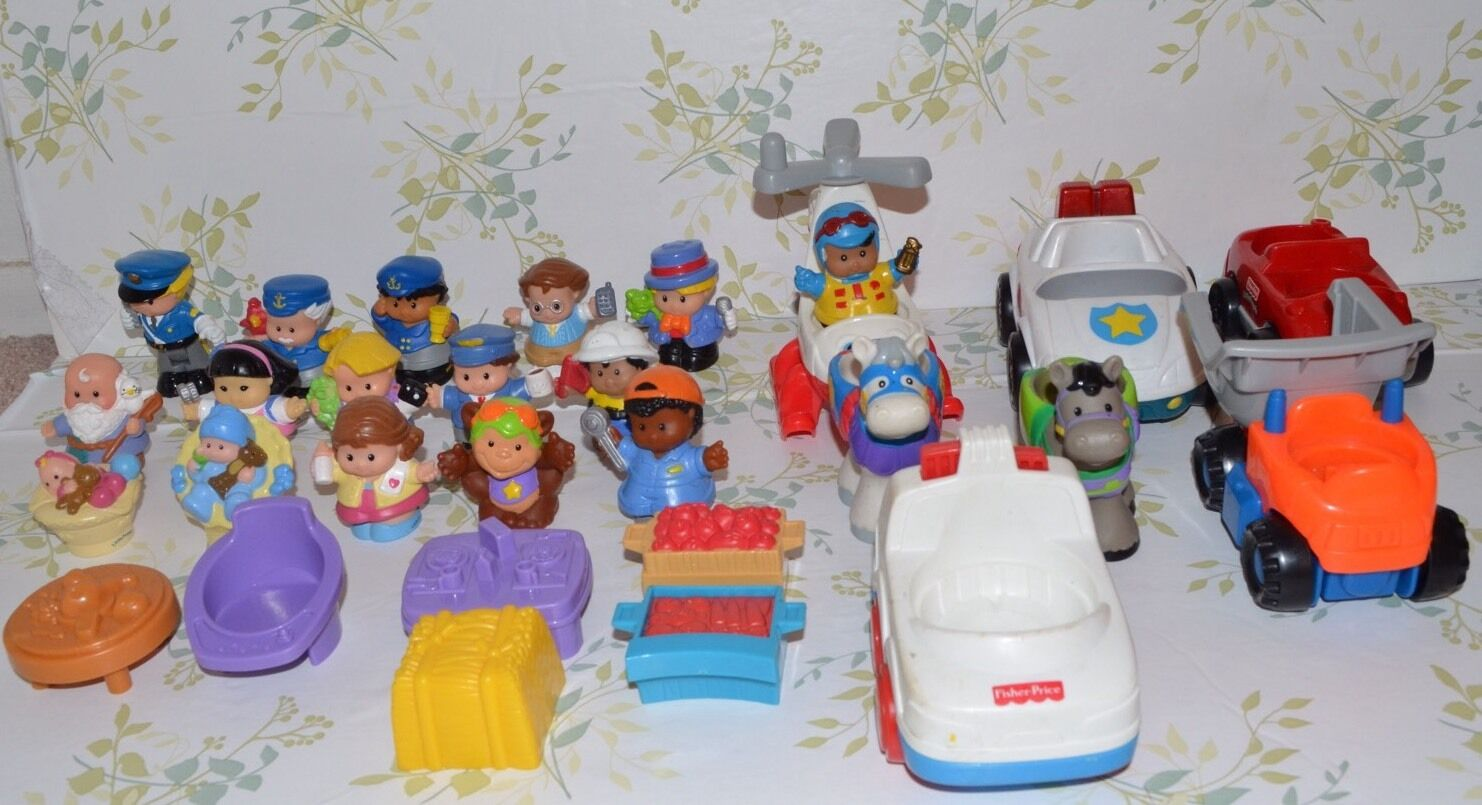 Lot of 29 Fisher Price Little People Replacements Figures Figures Figures Cars Plane Food Animal 1ade3b